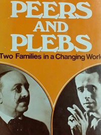 Cover of Peers and Plebs: Two Families in a Changing World