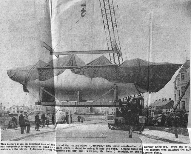 The arrival of the hull of Duncrue
