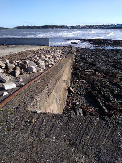 The old slipway at Ballyholme