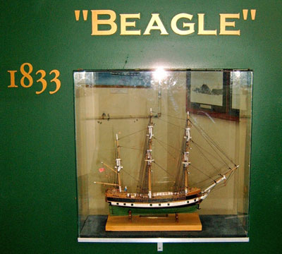 Model of the Beagle in the Museum at Ushaia, Patagonia