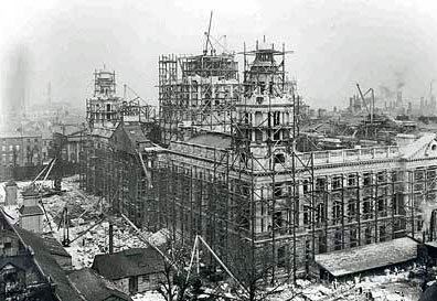 Belfast City Hall under construction