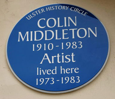 Colin Middleton plaque on Victoria Road in Bangor