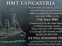 HMT Lancastria (and other connections)